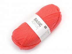 "Knitting wool - ""Basic Acrylic"" - neon orange"