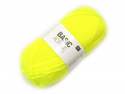 "Laine à tricoter ""Basic Acrylic"" - jaune fluo"