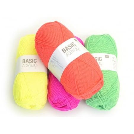 """Acheter Laine à tricoter """"Basic Acrylic"""" - orange fluo - 3,30€ en ligne sur La Petite Epicerie - Loisirs créatifs"""