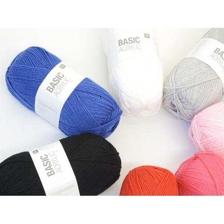 """Acheter Laine à tricoter """"Basic Acrylic"""" - blanc - 3,30€ en ligne sur La Petite Epicerie - Loisirs créatifs"""