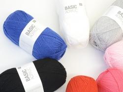 "Laine à tricoter ""Basic Acrylic"" - bleu moyen"