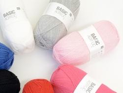 "Laine à tricoter ""Basic Acrylic"" - rose"