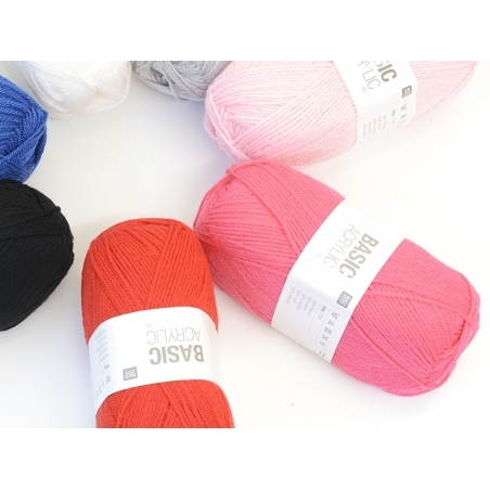 "Laine à tricoter ""Basic Acrylic"" - rouge"