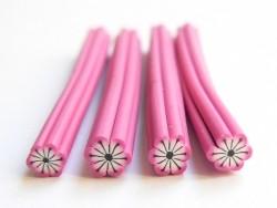 Blumencane - rosa, mit schwarzen Streifen