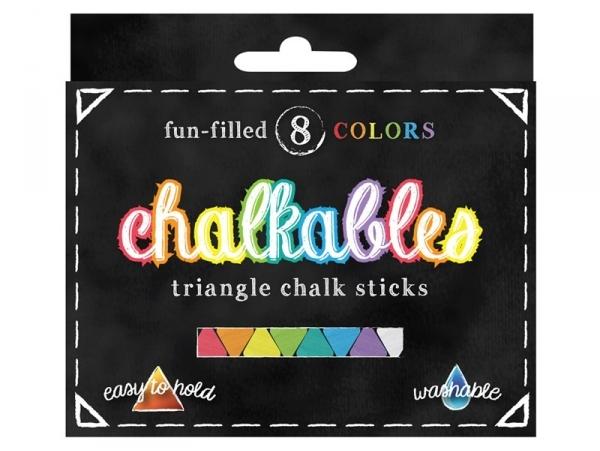 Coffret 8 craies triangle - couleurs assorties