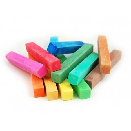 Coffret 12 craies carrées - couleurs assorties