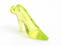 1 translucent, green Cinderella shoe charm, 35 mm x 20 mm