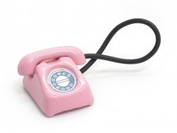 Téléphone vintage miniature - rose