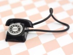 Téléphone vintage miniature - noir