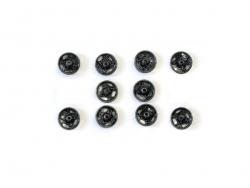 10 boutons pression 11 mm - noir