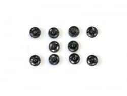 10 press studs (11 mm) - black