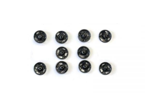 10 boutons pression 11 mm - noir  - 1