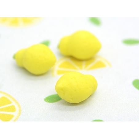 Miniature Lemon made of polymer clay