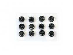 12 Druckknöpfe (7 mm) - schwarz