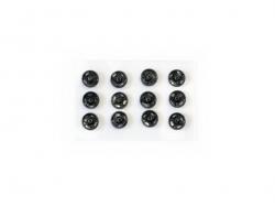 12 Druckknöpfe (5 mm) - schwarz