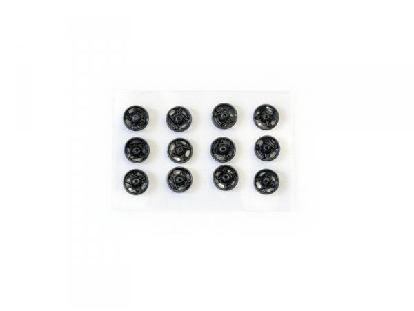 12 boutons pression 5 mm - noir