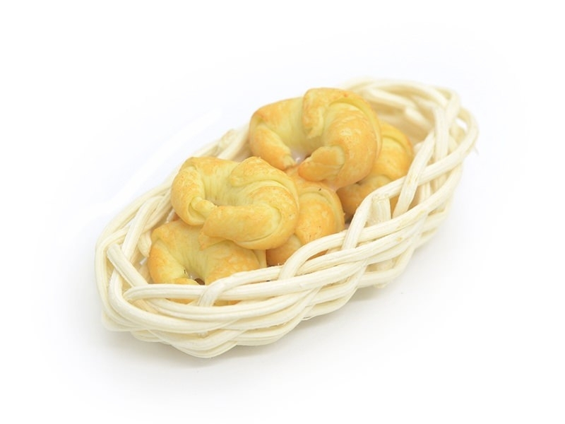 Miniature Bread-Basket with Croissants