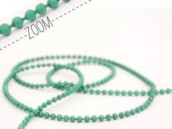 1 m smaragdgrüne Kugelkette - 1,5 mm