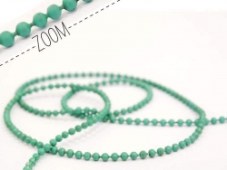 Emerald green ball chain (1 m) - 1.5 mm
