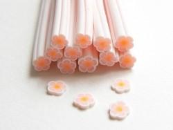 Gänseblümchencane - weiß und hellrosa