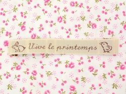 """Fabric label - """"Vive le printemps"""" - La petite épicerie"""
