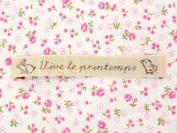 """Stoffetikett zum Aufnähen - """"Vive le printemps"""" - La petite épicerie"""