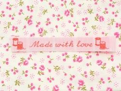 "Stoffetikett zum Aufnähen - ""Made with love"" - La petite épicerie"