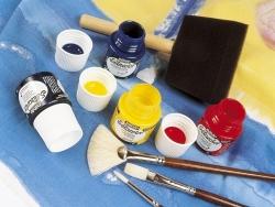 Transparent fabric paint - turquoise Pébéo - 2