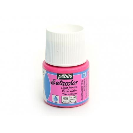 Peinture pour tissu clair - rose fluo Pébéo - 1