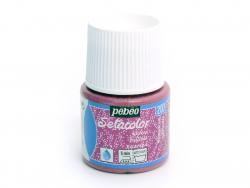 Peinture pour textile Paillettes - Rose tourmaline