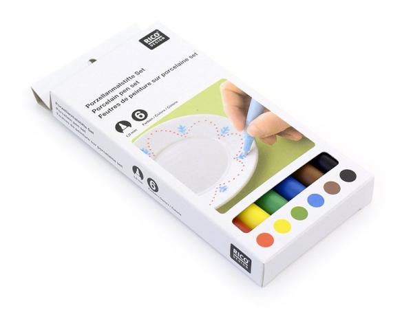Acheter 6 Feutres de peinture pour porcelaine - Couleurs primaires - 13,90€ en ligne sur La Petite Epicerie - 100% Loisirs c...