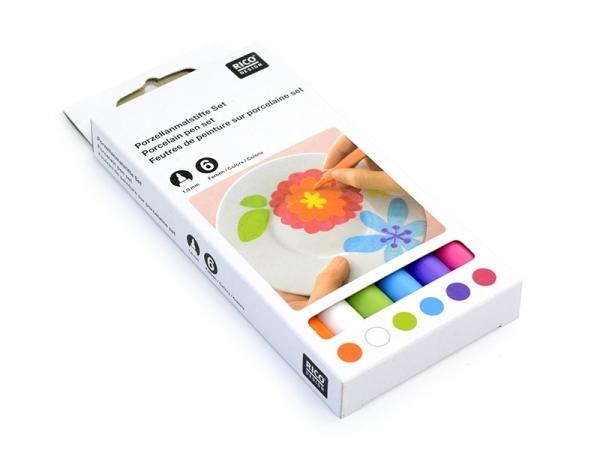 Acheter 6 Feutres de peinture pour porcelaine - Couleurs trendy - 13,90€ en ligne sur La Petite Epicerie - 100% Loisirs créa...