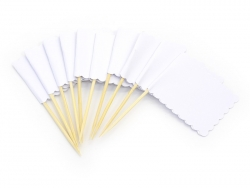 10 rectangular flag tags that can be pinned - white