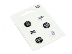 6 Boutons en plastique Made by me - Noir et blanc