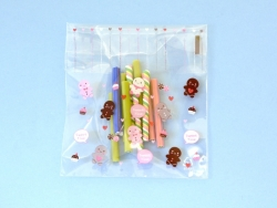 "1 plastic bag with adhesive seal - Gingerbread man, ""Sweet Time"""