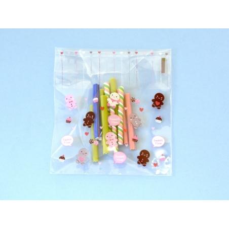 """1 sachet plastique adhésif - Bonhomme pain d'épices """"sweet time"""""""