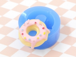 Silicone mould - delicious-looking doughnut