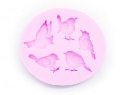 Moule en silicone rose - moineaux / oiseaux