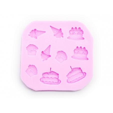 Acheter Moule gourmand gateaux et glaces - 10 formes - 11,90€ en ligne sur La Petite Epicerie - Loisirs créatifs
