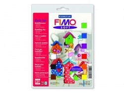 Set of 9 Fimo soft half blocks, varnish, and accessories