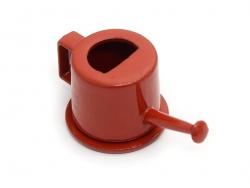 Rote Miniaturgießkanne