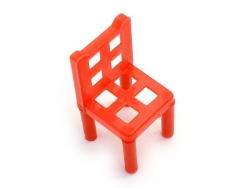Chaise rouge miniature
