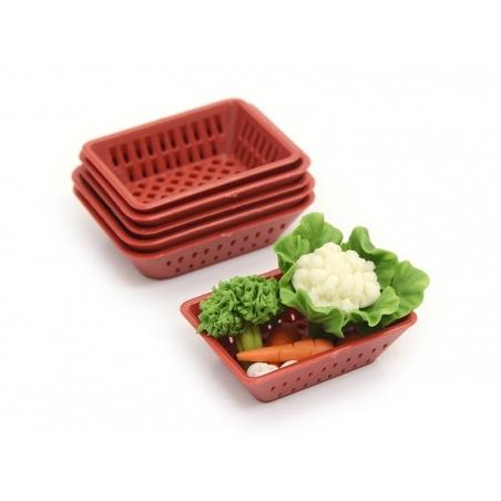Acheter Corbeille miniature en plastique rouge - 2,49€ en ligne sur La Petite Epicerie - 100% Loisirs créatifs