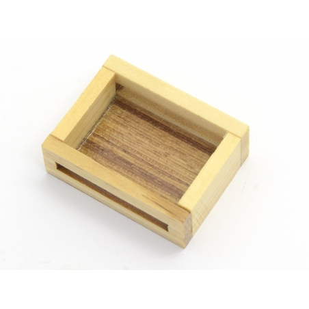 1 cageot miniature en bois