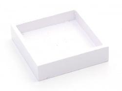 1 viereckiges Miniaturtablett - weiß