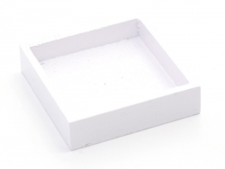 1 wooden square miniature tray - white