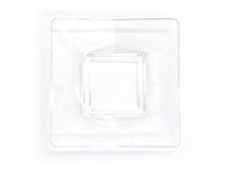 Acheter Assiette carrée - transparente en plastique - 1,99€ en ligne sur La Petite Epicerie - Loisirs créatifs