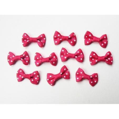 Acheter Noeud rose fuschia à pois - 3 cm - 0,39€ en ligne sur La Petite Epicerie - Loisirs créatifs