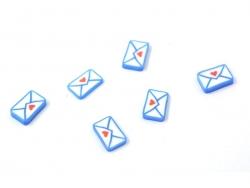 Cane enveloppe lettre d'amour - coeur
