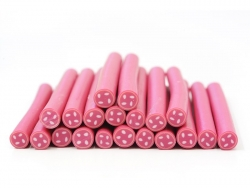 Cane bouton rose - mercerie